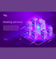 web hosting and data center isometric vector image vector image