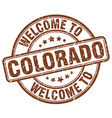 welcome to Colorado vector image vector image