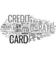 what you should know about credit card jargon vector image vector image