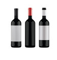 wine bottles on a white background vector image vector image