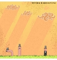 Worm background vector image vector image