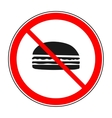 Do not eat sign vector image