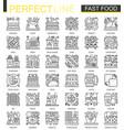 fast food outline mini concept symbols modern vector image