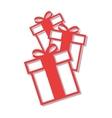 happy merry christmas gift vector image