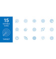 15 target icons vector image vector image