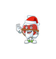 a picture santa red potion mascot picture style vector image vector image