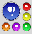 Balloon Icon sign Round symbol on bright colourful vector image vector image