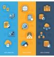 Big data vertical banners set vector image vector image