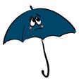 blue sad umbrella on white background vector image vector image