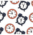 business clock time alarm management seamless vector image