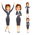 business woman character silhouette vector image vector image
