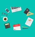 business workplace desktop vector image vector image