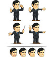 Businessman or Company Executive Customizable 4 vector image
