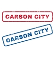 Carson City Rubber Stamps vector image vector image