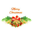 christmas and new year decorative christmas tree vector image vector image