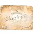 Christmas type design with snowflakes EPS 10 vector image vector image