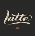 coffee lettering hand drawn calligraphy vector image
