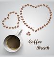 coffee mug with message vector image vector image