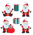 collection of christmas santa claus 2 vector image vector image