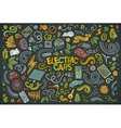 Colorful doodle cartoon set of Electric vector image