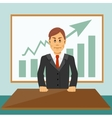 confident young businessman vector image