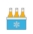 cooler bag with beer bottles vector image vector image