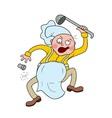 Crazy Chef vector image