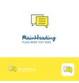 creative folder logo design flat color logo place vector image