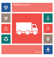 delivery car icon elements for your design vector image