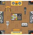 DJ seamless pattern vector image vector image