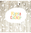easter card wooden back vector image vector image