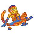 Ethnic ornamented multicolor monkey vector image vector image