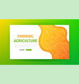 farming agriculture landing page vector image
