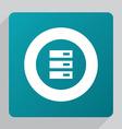 flat server icon vector image