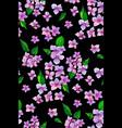 garden pink hydrangea flowers seamless pattern vector image vector image