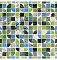 Geometric colorful maze canvas frayed abstract vector image vector image