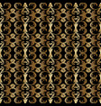 gold baroque seamless pattern antique vector image vector image