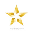 golden star made of pyramids vector image