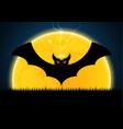 halloween bat moon thunderbolt vector image vector image