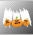 halloween web white grunge cartoon banner or vector image