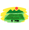 hand drawn thai Farmers vector image