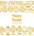 happy easter egghunt banner template with vector image