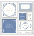 Invitation cards and templates set vector image