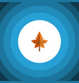 isolated aspen flat icon alder element can vector image
