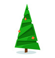 isolated creative origami xmas tree on white vector image