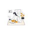 leisure time pet friendship entertainment vector image