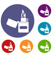 lighter icons set vector image vector image