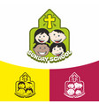 logo sunday school and christian symbols vector image vector image