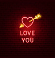 love you neon sign vector image vector image