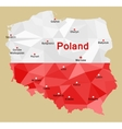 map poland vector image vector image